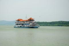 Tour Boat on Tai Lake Wuxi China Stock Photo