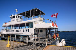 Tour boat in Thousand Islands Region Royalty Free Stock Photography