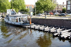 Tour boats. Haarlem Royalty Free Stock Images