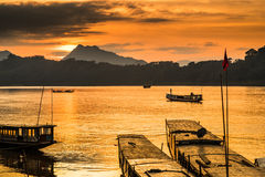 Tour boats in Mekong river Stock Photography