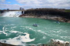 Tour boats on The Niagara River Royalty Free Stock Images