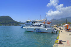 Tour boats at Nydri  port,Lefkada,Greece Royalty Free Stock Photo