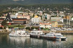 Tour boats in Ushuaia, Argentina Stock Photography