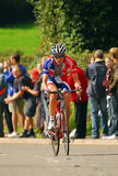 Tour of Britain Cycle Race - Day 4. Picture showing Ben Swift of Team GB leading the way up Jiggers Bank, one of the hill stages on day 4 of the Tour of Britain Royalty Free Stock Photography