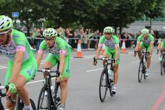 Tour of Britain 2013. The Tour of Britain Cycling race Stage 8 London UK Royalty Free Stock Photography