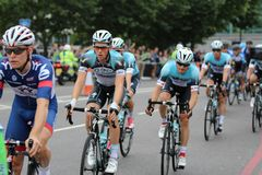 Tour of Britain 2013. The Tour of Britain Cycling race Stage 8 London UK Stock Image