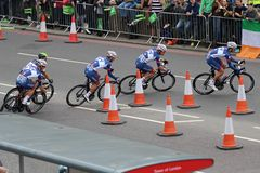 Tour of Britain 2013. The Tour of Britain Cycling race Stage 8 London UK Stock Photography