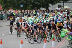 Tour of Britain 2013. The Tour of Britain Cycling race Stage 8 London UK Royalty Free Stock Image