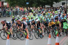 Tour of Britain 2013. The Tour of Britain Cycling race Stage 8 London UK Stock Photo