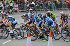 Tour of Britain 2013. The Tour of Britain Cycling race Stage 8 London UK Stock Images