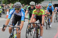Tour of Britain 2013. The Tour of Britain Cycling race Stage 8 London UK Stock Photos
