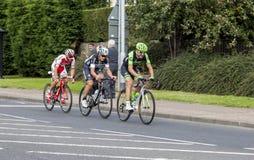 Tour of Britian Cycle Race 2016. Tour of Britian Cycle Race, 2016, passes through Bedlington, Northumberland, England, UK royalty free stock photo