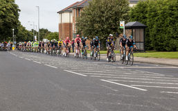 Tour of Britian Cycle Race 2016. Tour of Britian Cycle Race, 2016, passes through Bedlington, Northumberland, England, UK royalty free stock image