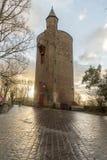 Tour Bruges de poudre photos stock