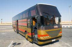 Tour bus. At Sinai desert, Egypt Stock Image