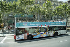 Tour Bus, Barcelona Stock Image