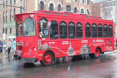 Tour Bus on Broadway in Nashville, Tennessee Stock Photo
