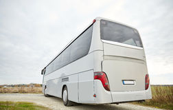 Tour bus driving outdoors Stock Photography