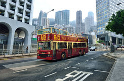 Tour Bus, Hong Kong Royalty Free Stock Images
