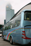 Tour bus in Honk Kong. In fogy day Stock Photography