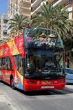Tour bus, Malaga, Spain. Royalty Free Stock Photography