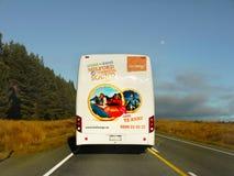 Tour Bus, Milford Sound, New zealand Stock Photos