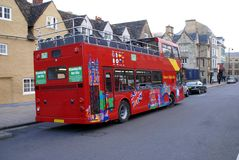 Tour bus in Oxford, England, United Kingdom Royalty Free Stock Images