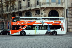 The tour bus in Paris, France Royalty Free Stock Photos