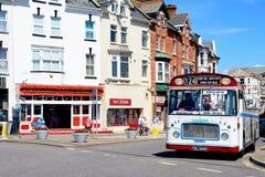 Tour bus, Seaton. Royalty Free Stock Photo
