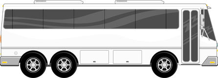 Tour bus vector Royalty Free Stock Images