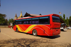 Tour bus waiting Royalty Free Stock Images