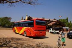 Tour bus waiting Royalty Free Stock Image