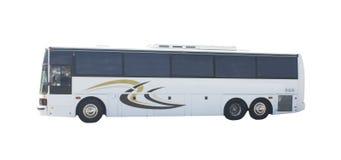 Tour bus on white stock image