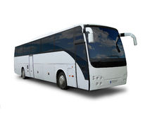 Tour bus. On white background Stock Photography