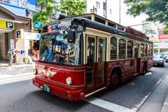 Tour bus in Yokohama Stock Photo