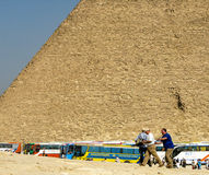 Tour buses bringing tourists to Giza. Stock Photos