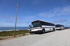Tour Buses Stock Photography
