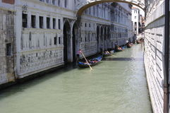 Tour of the canals of Venice by gondola Royalty Free Stock Photography
