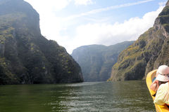 Tour at the Canyon del Sumidero Stock Photography