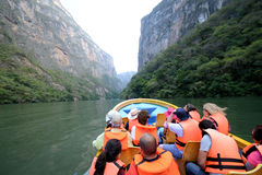 Tour at the Canyon del Sumidero Royalty Free Stock Photo