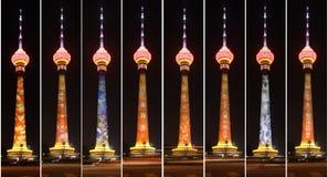 Tour centrale de Pékin TV la nuit photographie stock