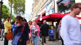 Tour At Champs-Elysees Street - Paris - HD Video stock video footage