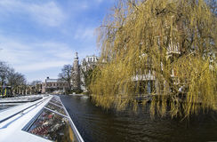 Tour through the channel in Amsterdam. Stock Images