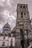 Tour Charlemagne. Tours. France. The Tour Charlemagne and dome of the Basilica Saint Martin. Tours. France Stock Photo
