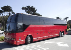 Tour Charter Bus. Parked red tour charter bus Stock Images