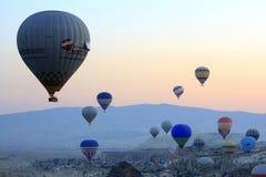 Tour chaud de ballon à air, Cappadocia photo stock