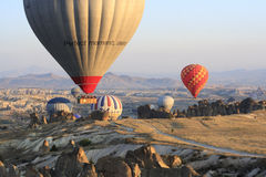 Tour chaud de ballon à air, Cappadocia Images stock