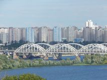 tour of the city of Kiev view of the left bank of the Dnieper stock images
