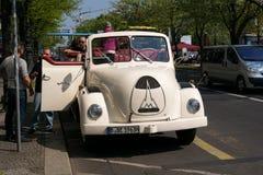 Tour of the city on an open retro car Magirus-Deutz. Stock Images