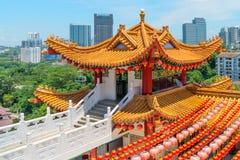 Tour décorative de Colorfull dans le chineseTemple traditionnel Images libres de droits